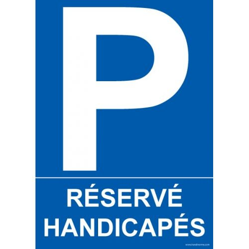 panneau pmr parking r serv handicap s en pvc ou vinyle. Black Bedroom Furniture Sets. Home Design Ideas