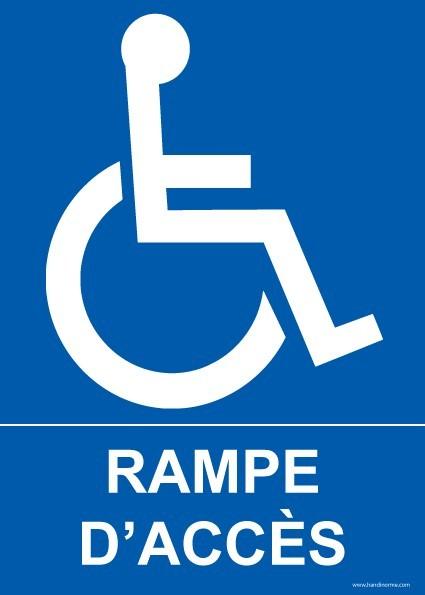 Plaques et panneaux pictogrammes et plaques disponibles for Rampe d acces handicape