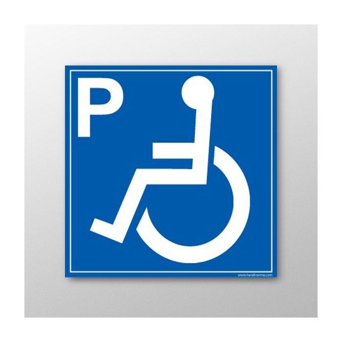 panneau pmr signal tique place parking pmr. Black Bedroom Furniture Sets. Home Design Ideas