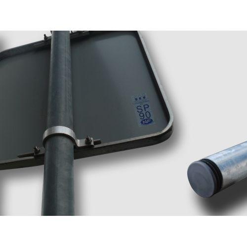 poteau en acier galvanis diam tre 60 mm. Black Bedroom Furniture Sets. Home Design Ideas