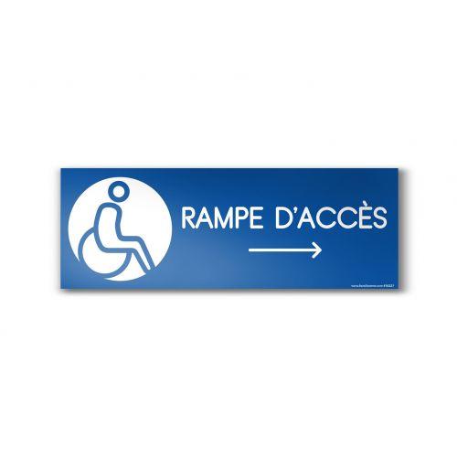 ... Directionnelle > Panneau RAMPE DACCES FLECHE DROITE - Design
