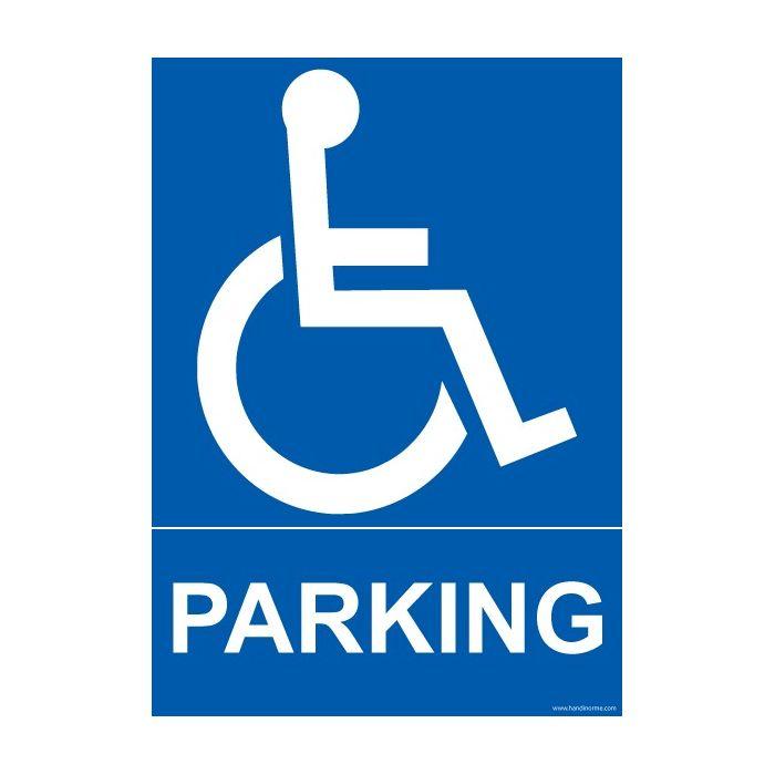 panneau pmr parking avec picto disponible en 3 dimensions. Black Bedroom Furniture Sets. Home Design Ideas