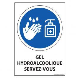 Panneau Gel hydroalcoolique servez-vous - vinyle souple - A5