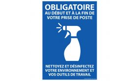 Panneau Nettoyez et désinfectez votre environnement... A4 ou A5