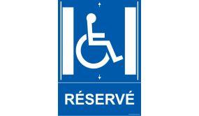 Panneau Ascenseur - Réservé - + picto Handicapé
