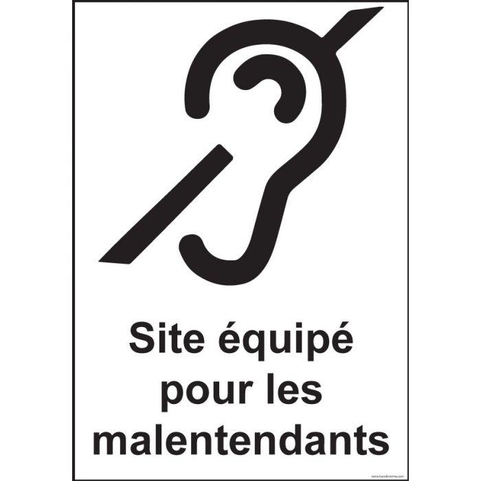 Panneau Signalisation - Site équipé pour les malentendants