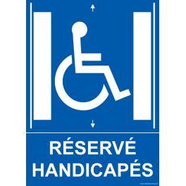 """Panneau """"Ascenseur Réservé Handicapés"""""""