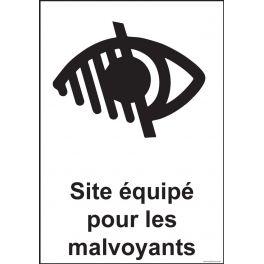 Panneau Signalisation - Site équipé pour les malvoyants