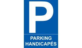 Panneau - Parking Handicapés