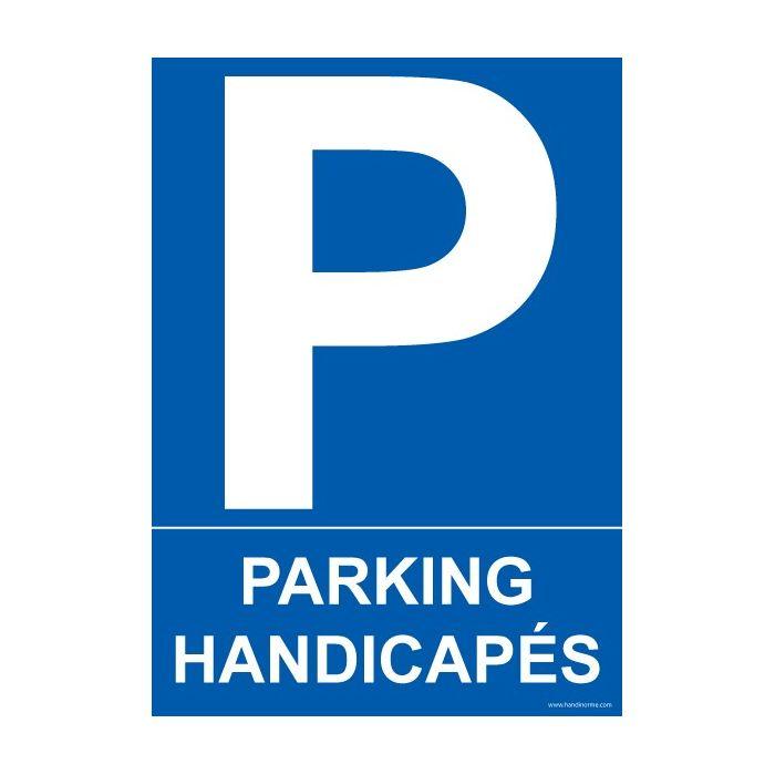 panneau signal tique parking handicap s. Black Bedroom Furniture Sets. Home Design Ideas