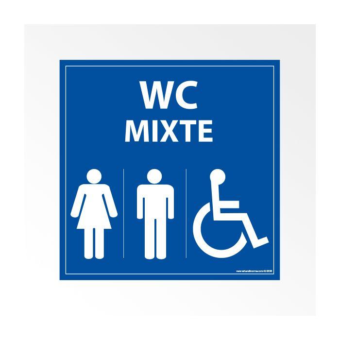 """Panneau signalétique """"WC PMR Mixte"""""""