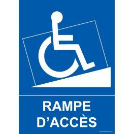 """Panneau handicapé """"Rampe d'accès"""""""