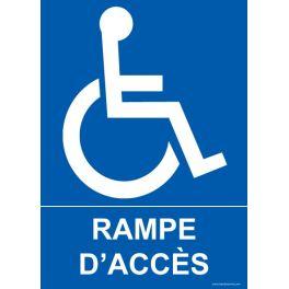 """Panneau """"Rampe d'accès"""" + Picto handicapé"""
