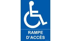 Panneau - Rampe d'accès - + Picto handicapé