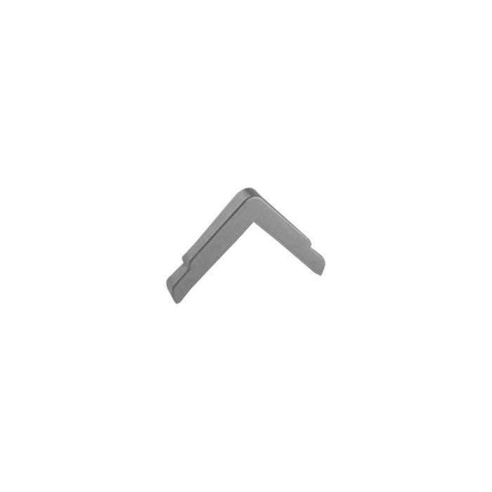 Embout de finition ANGLISOL® alvéolée 40x40 mm - gris