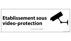 Signalisation d'information Etablissement sous vidéo-protection - 210 x 75 mm