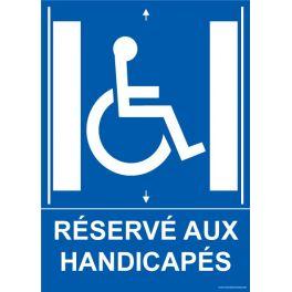 """Panneau ascenseur """"Réservé aux handicapés"""" + picto"""