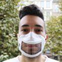 Masque inclusif transparent à fenêtre centrale - homologué UNSI