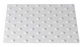 Dalle podotactile extérieure en ABS - 2 dimensions - 3 coloris - extérieure - à visser