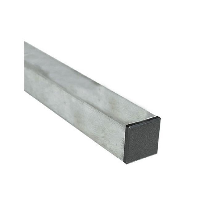 Poteau acier galvanise 40x40 mm - hauteur 1,5 m à 3,5m