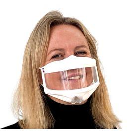 Masque inclusif fenêtre bord à bord - Blanc - homologué UNS1 et UNS2