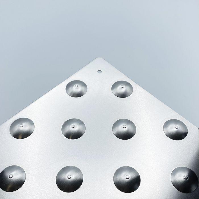 Dalle podotactile SEBALU en Alumium brut