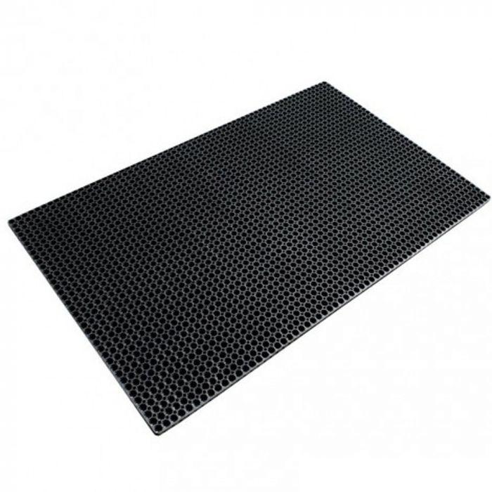 Tapis Caillebotis caoutchouc normes PMR 91x152 cm