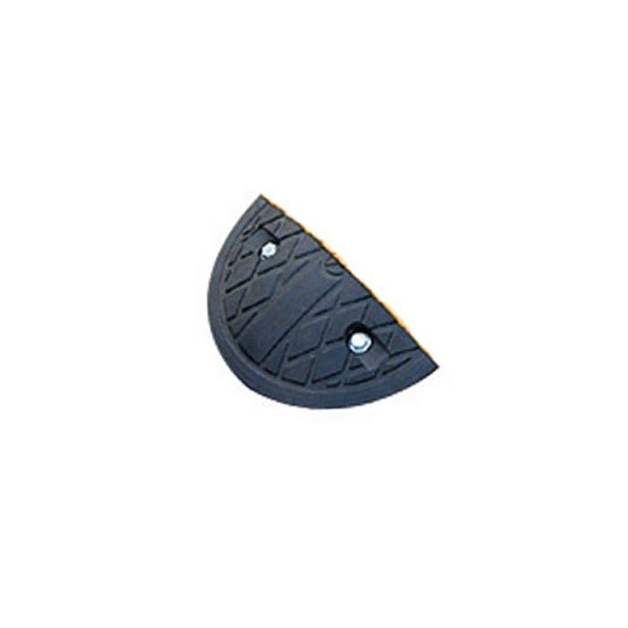 Module D'Extrémité de Ralentisseur en Caoutchouc de Hauteur 50 mm NOIR