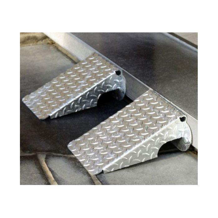 Rampe d'accès trottoir acier galvanisé
