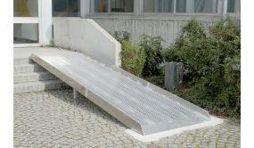 Rampe d'accès PMR aluminium extra large