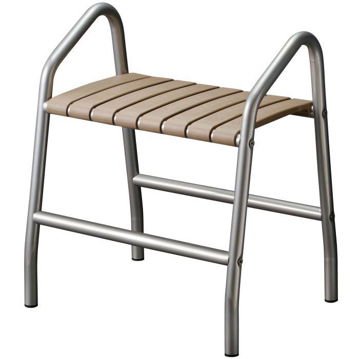 si ge de douche avec 2 poign es pour pmr classique sobre et pratique. Black Bedroom Furniture Sets. Home Design Ideas