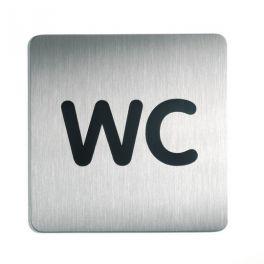 """Picto de porte carrée """"WC"""""""