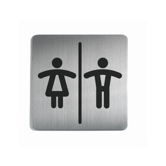 """Picto de porte carrée """"Toilettes Homme/Femme"""""""