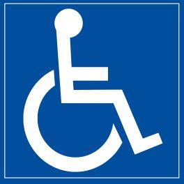 """Panneau signalétique """"Personne à mobilité réduite"""""""