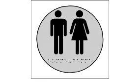 Plaques en relief et braille toilettes Hommes et Femmes