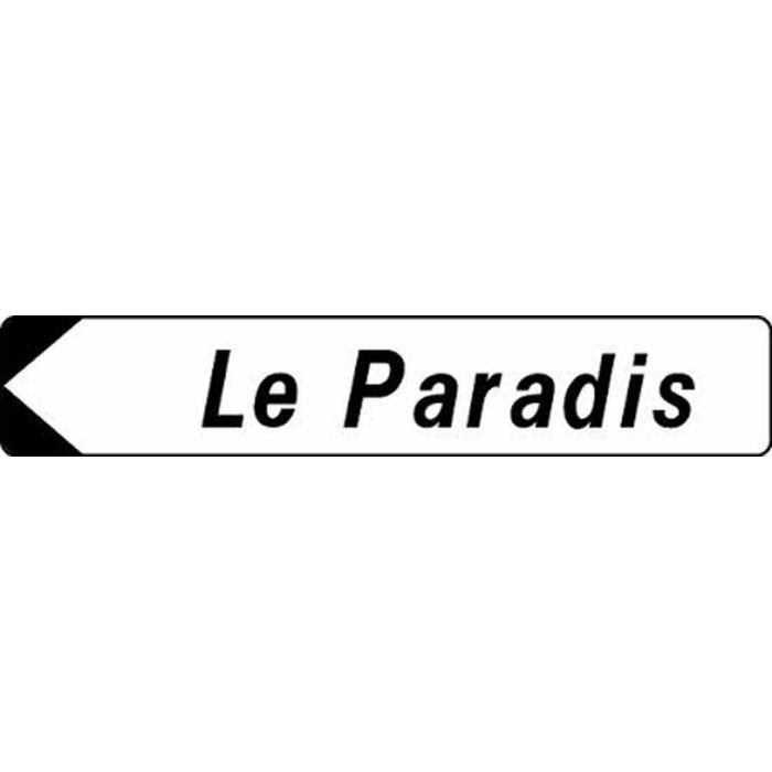 Panneau rectangulaire personnalisé avec dessin de flèche