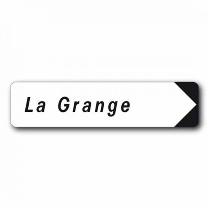 Panneau rectangulaire de type couvre chant personnalisable avec fl che - Panneau signaletique personnalise ...