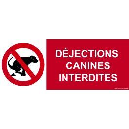Panneau déjections canines interdites