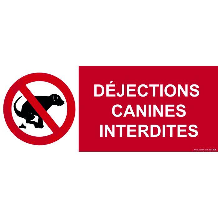 Panneau d jections canines interdites signal tique for Panneau signaletique exterieur