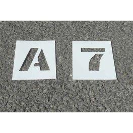 Pochoir Lettres & Chiffres PVC- 2,5 cm, 5cm, 7,5cm ou 10 cm