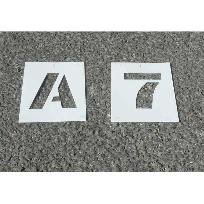 pochoir lettres chiffres pvc permet une utilisation vari e pour la cr ation de marquage sur. Black Bedroom Furniture Sets. Home Design Ideas