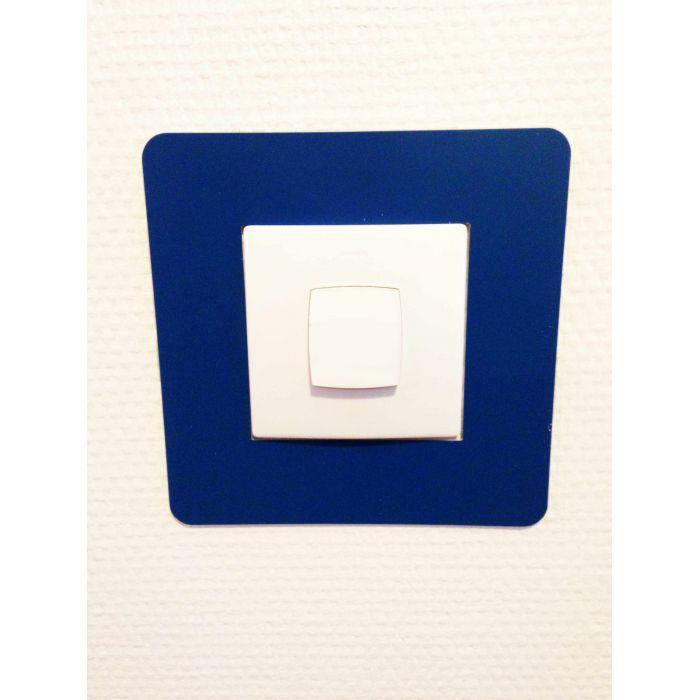 Adhésif carré de repérage des interrupteurs bleu