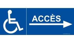 Signalisation - Accès aux personnes handicapées et à mobilité réduite