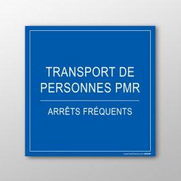 Plaque magnétique pour véhicule - Transport PMR, arrêts fréquents