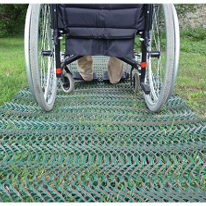 tapis d'accès plage pour fauteuil roulant