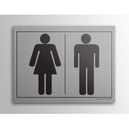"""Plaque gravée picto """"homme/femme"""""""