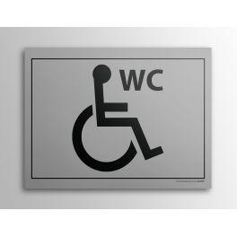 """Plaque Gravée """"WC pour PMR"""""""