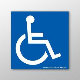 Plaque magnétique pour véhicule handicapé