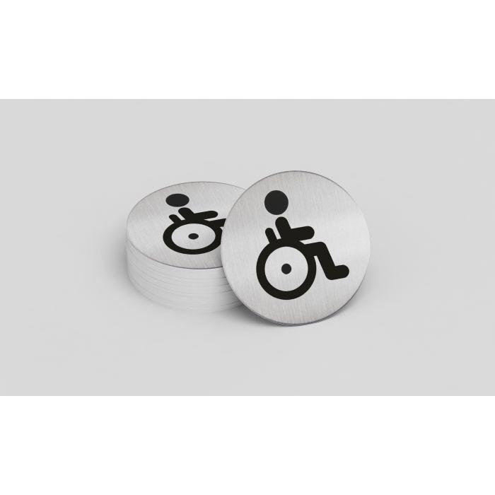 Pictogramme toilettes personnes handicapés