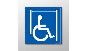 Panneau signalétique Passage large pour les personnes en situation de handicap